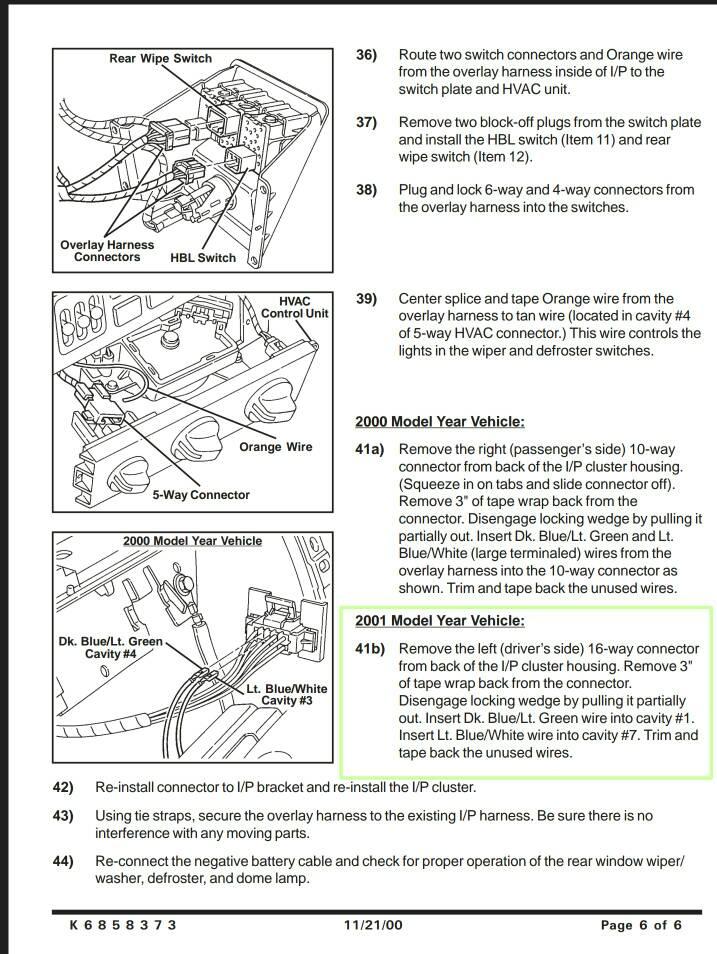 2001 Hardtop Wiring Harness Jeep Wrangler TJ Forum