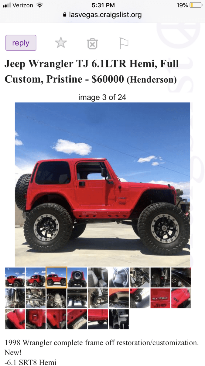 Lifted Jeeps For Sale Craigslist : lifted, jeeps, craigslist, Check, Wrangler, Forum