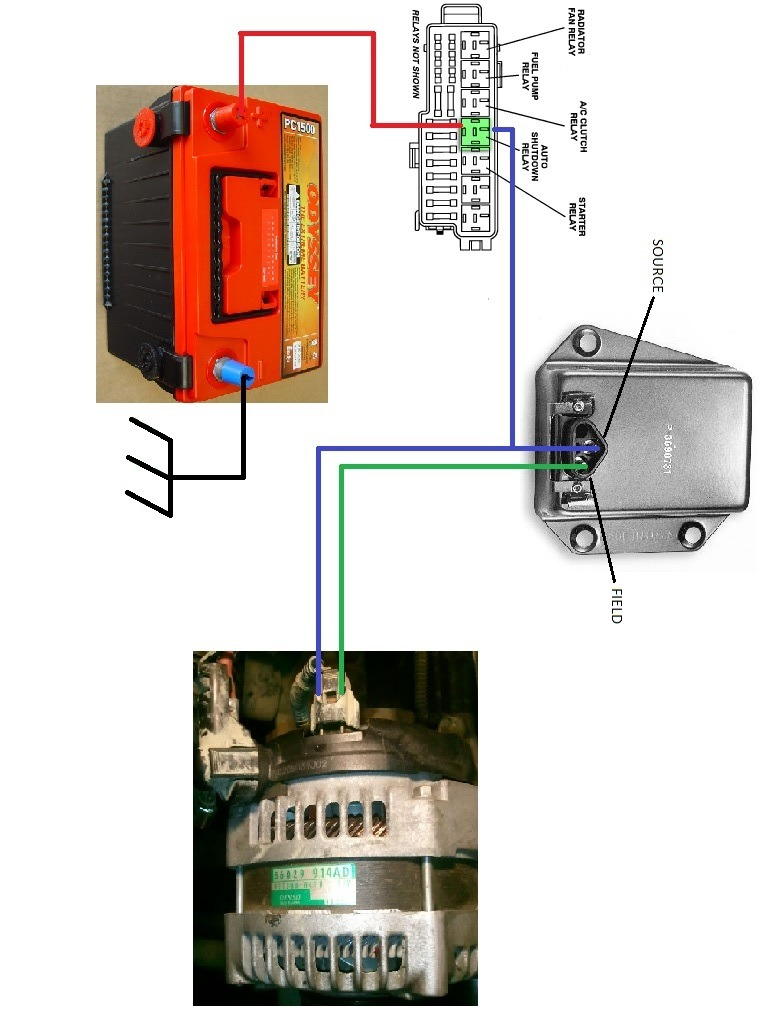 Voltage Regulator On Dodge External Voltage Regulator Wiring Diagram