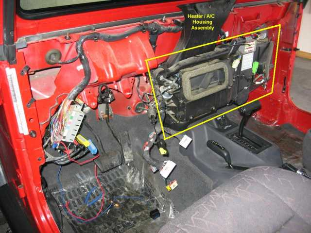2003 Jeep Tj Stereo Wiring How To Replace The Heater Core On A Jeep Wrangler Tj