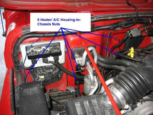 2000 Jeep Wrangler Air Conditioning Diagram