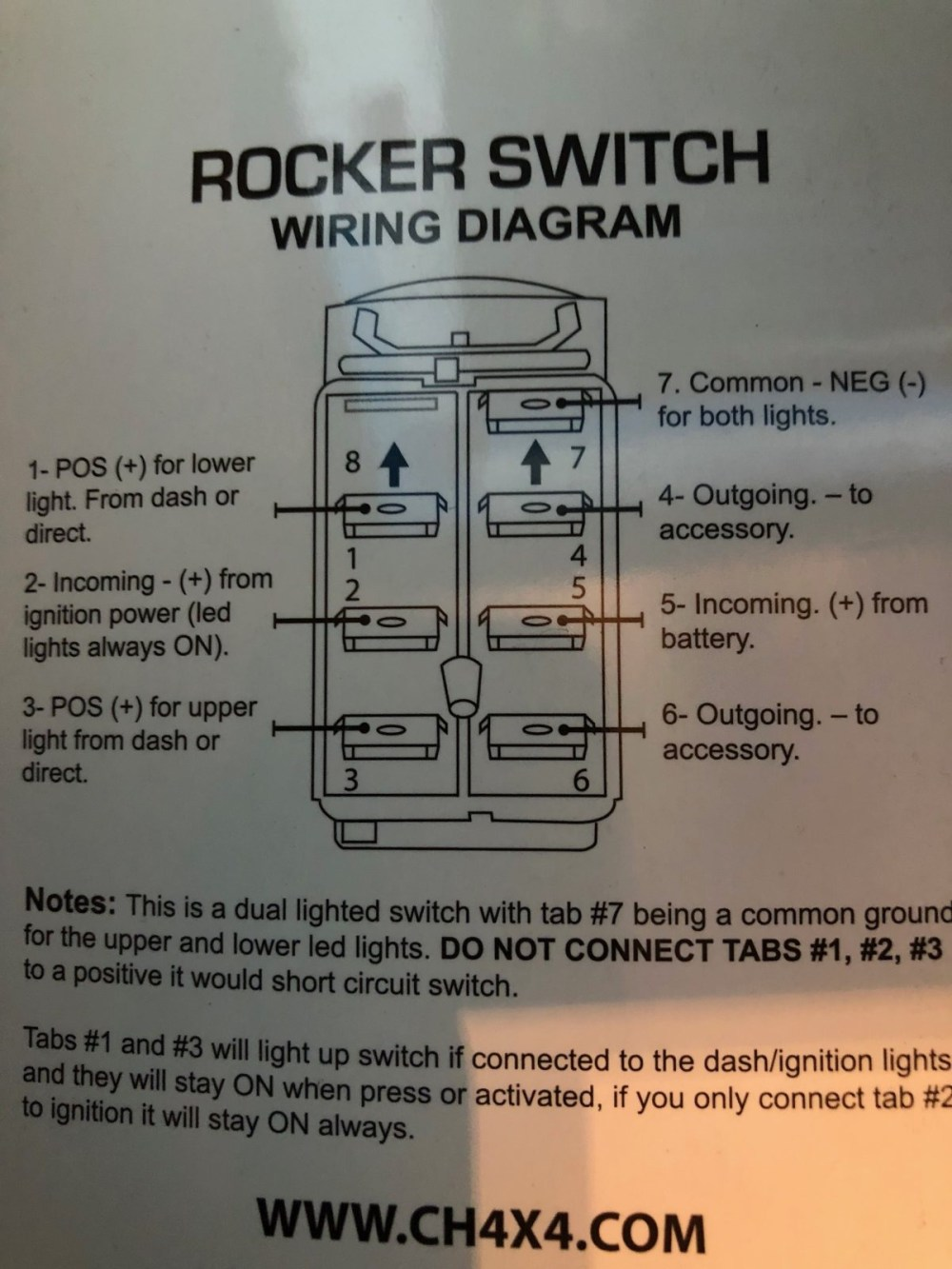 medium resolution of winch rocker switch wiring diagram