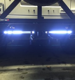 i added channel to a custom rear bumper and mounted led lights into the channel the channel keeps them protected from debris from trails and such  [ 1600 x 1200 Pixel ]