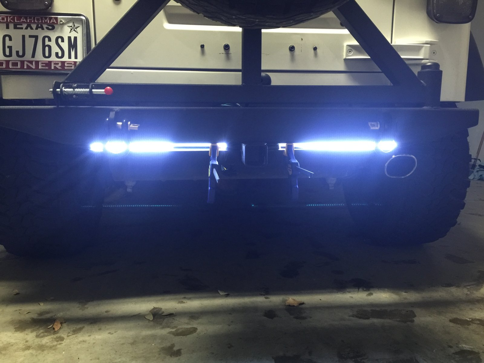 hight resolution of i added channel to a custom rear bumper and mounted led lights into the channel the channel keeps them protected from debris from trails and such