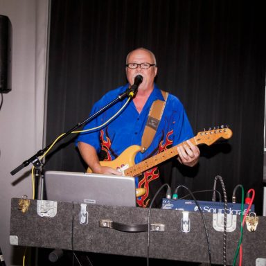 """Larry """"Gater"""" Gates entertained the enthusiast crowd at the Sock Hop!"""