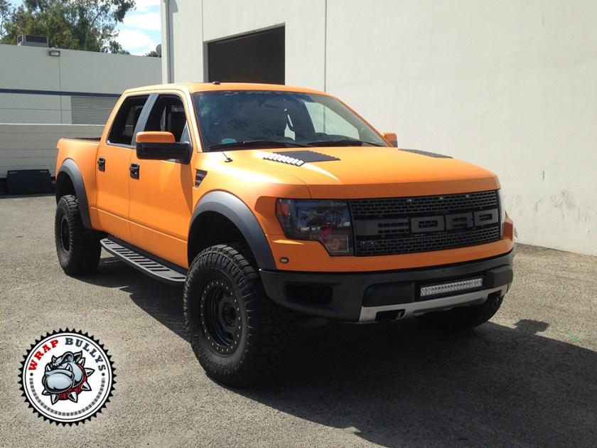 Ford Raptor Wrapped in 3M Matte Orange