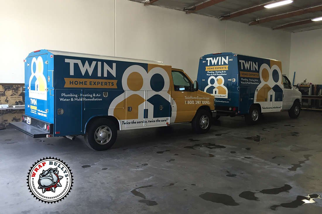 The Twin Home Experts Plumbers Truck Wraps
