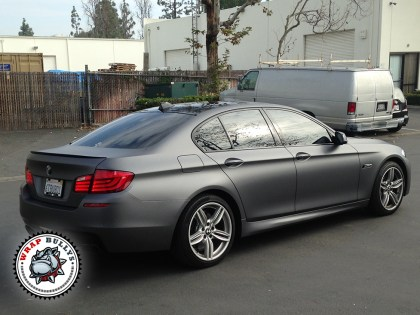 BMW 550i Wrapped in 3M Dark Gray