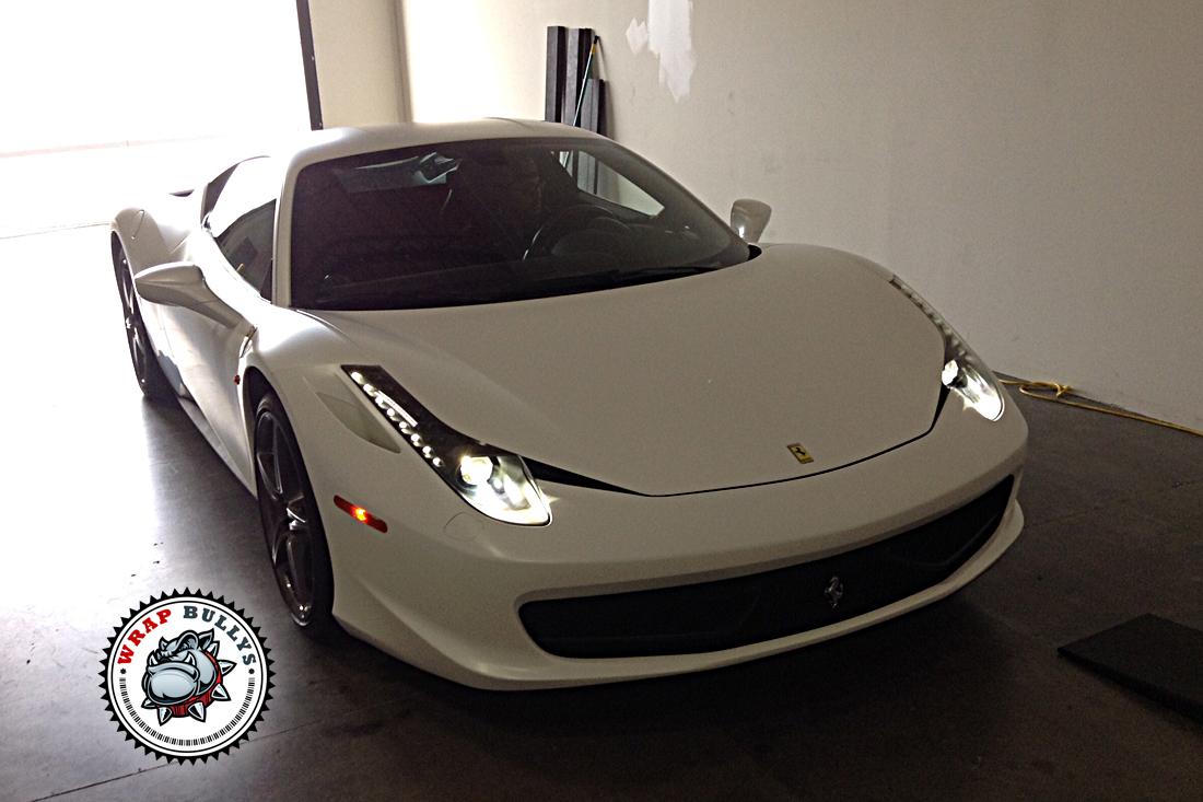 Ferrari 458 Matte White