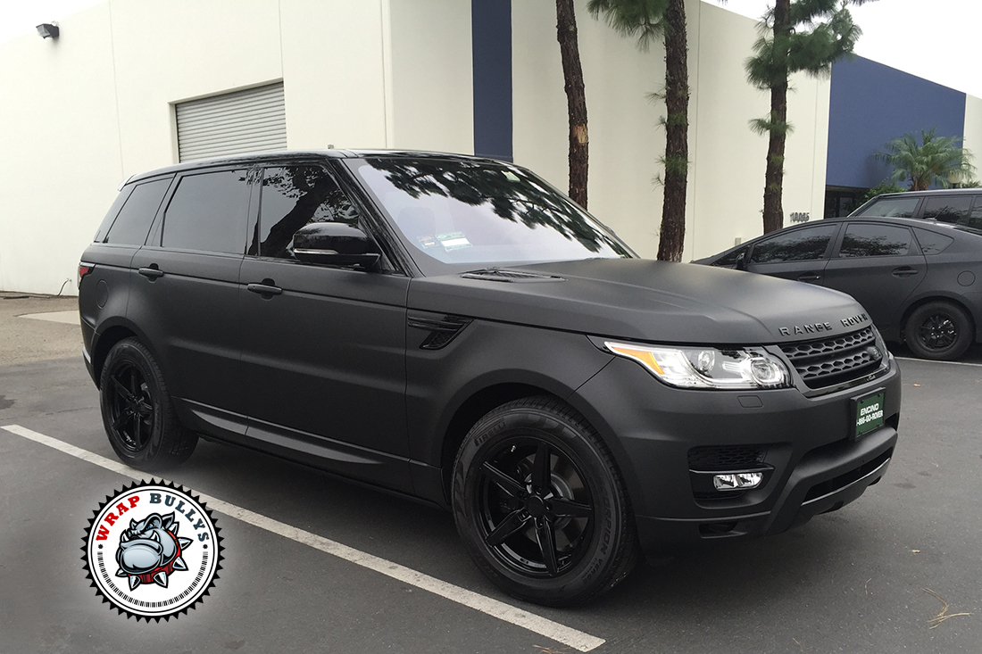 3M Matte Black Vehicle Wrap