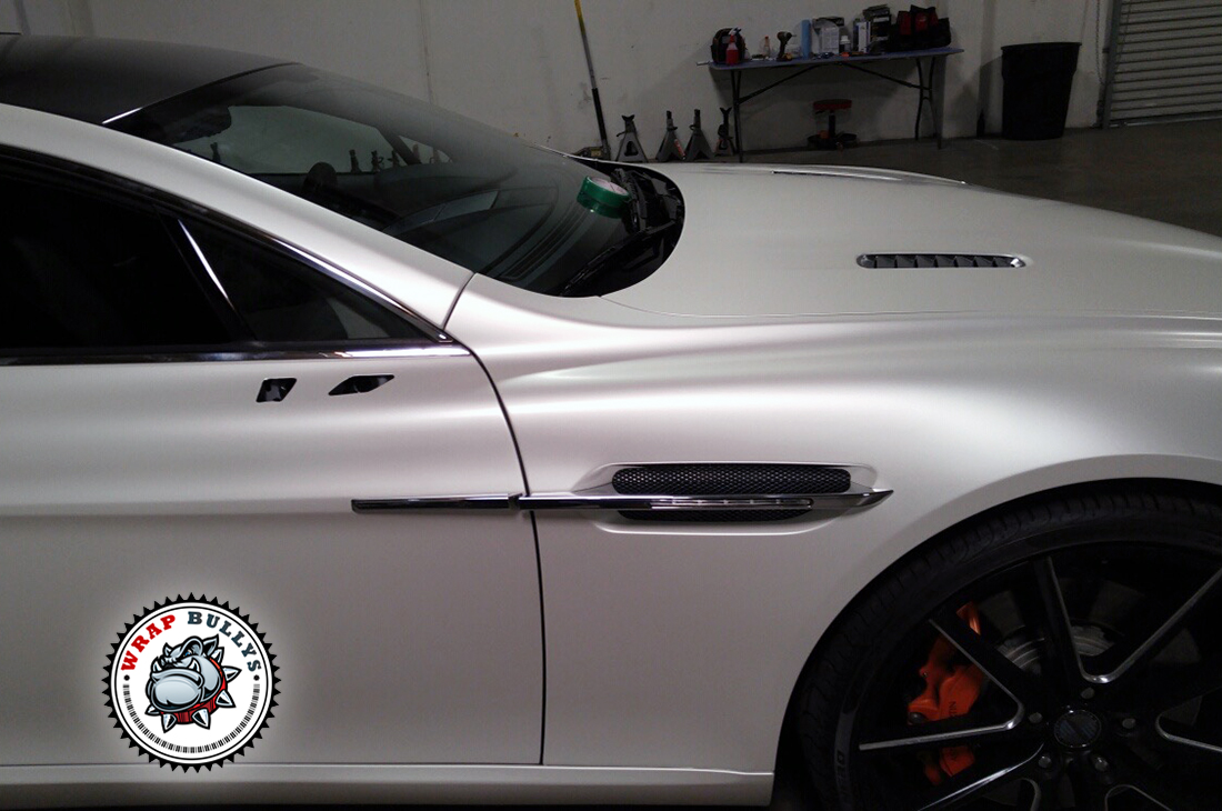 Aston Martin Rapide Wrapped In Satin Pearl White Wrap Wrap Bullys
