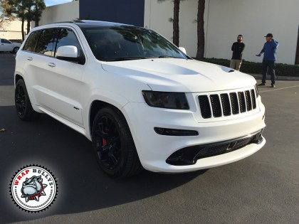 Jeep SRT Wrapped in 3m Satin White Wrap