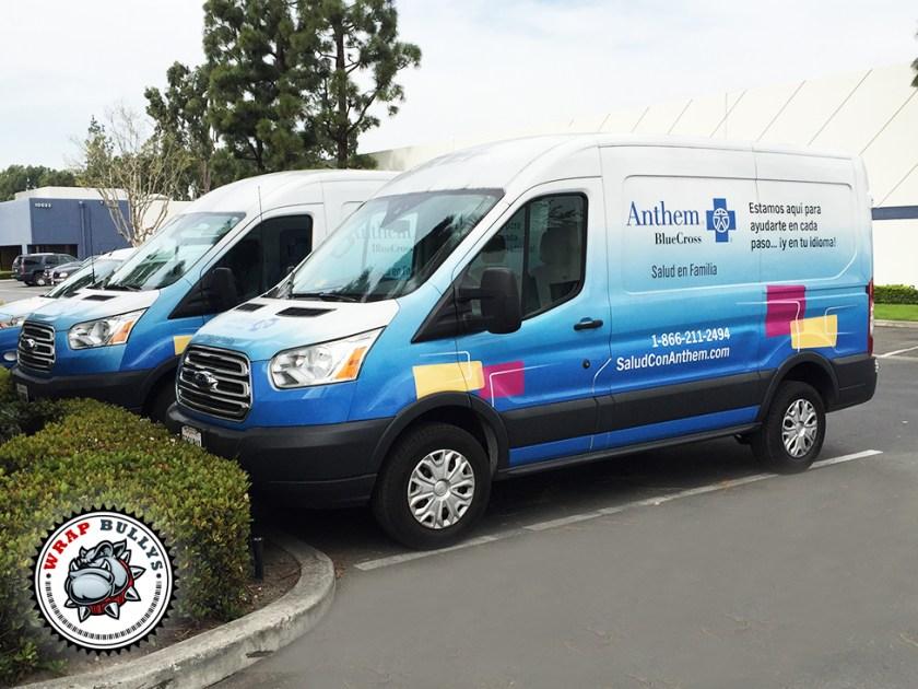 Anthem Ford Transit Van Wrap