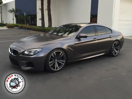 BMW Wrapped in 3M Satin Gray Car Wrap