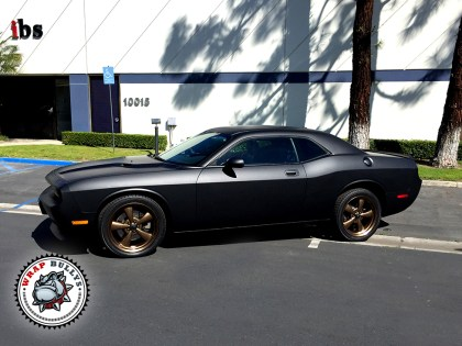 Dodge Challenger Wrapped in 3M Matte Black