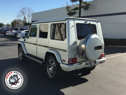 Mercedes Benz G63 AMG Wrapped in Satin Pearl White