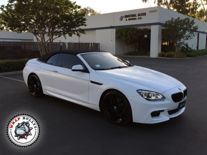 BMW M6 Wrapped in Satin White