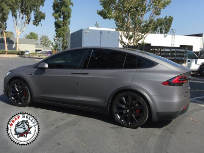 Tesla X Wrapped in Avery Matte Grey