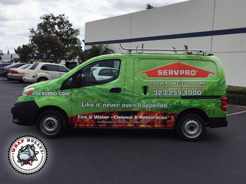 ServPro Nissan Nv200 Van Wrap