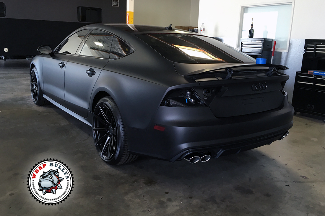 audi s7 wrapped in 3m deep matte black wrap bullys. Black Bedroom Furniture Sets. Home Design Ideas