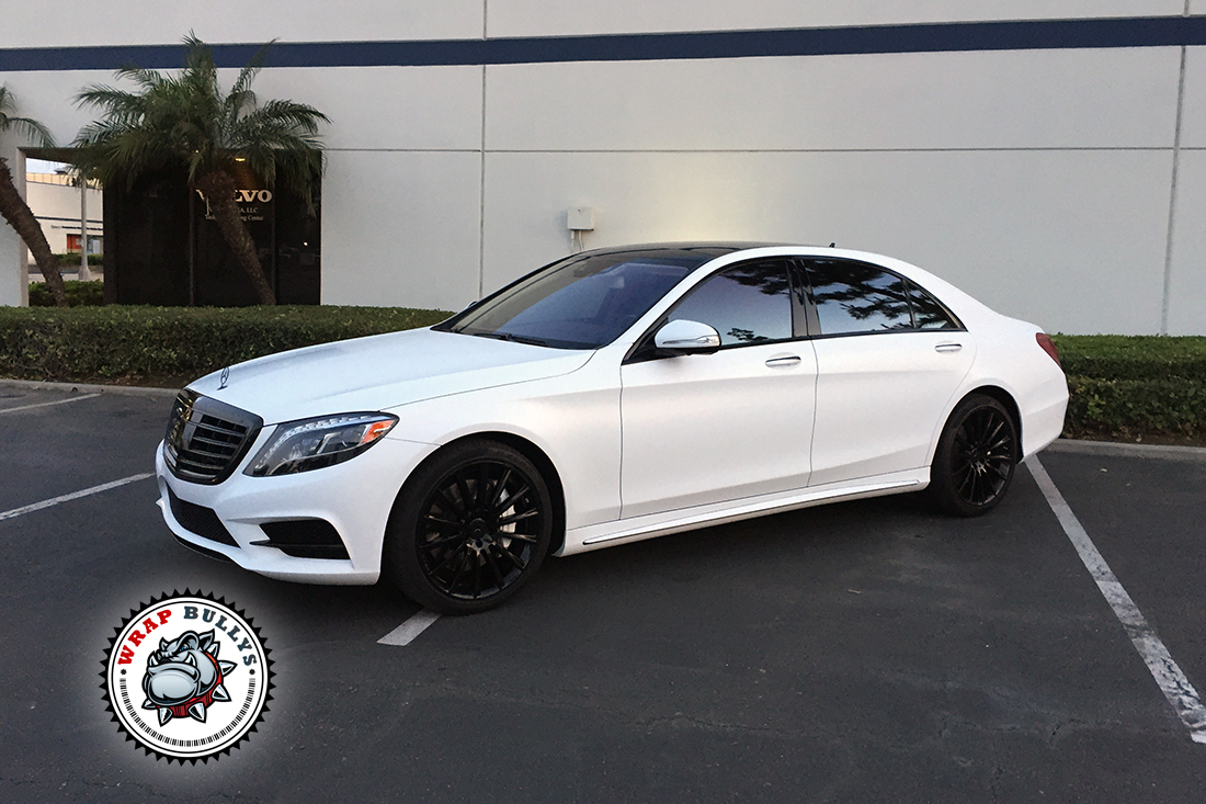 Mercedes s550 wrapped in satin white wrap bullys for 08 mercedes benz