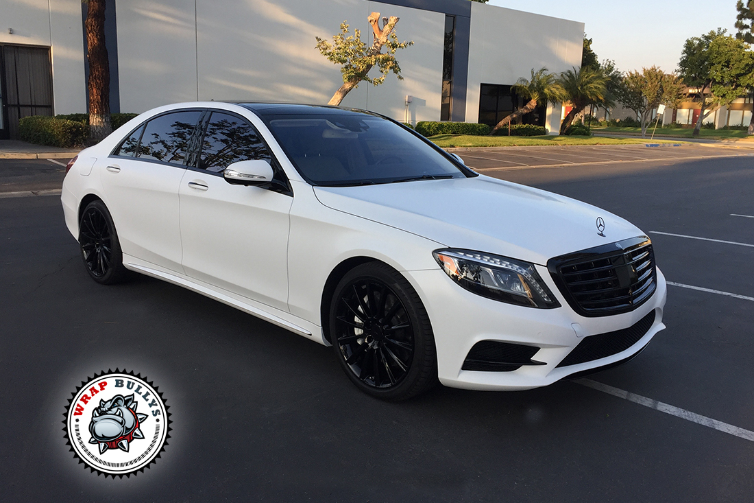 mercedes benz wrapped in
