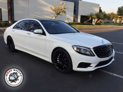 Mercedes Benz Wrapped in 3M Satin White