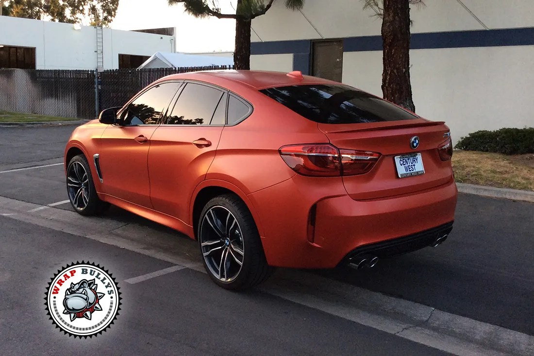 Bmw X6 M Wrapped In 3m Satin Red Wrap Bullys