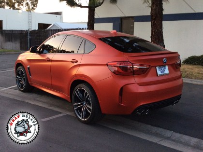 BMW X6 M Wrapped in Satin Red
