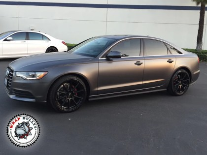 Audi A6 Wrapped in Satin Dark Gray Wrap
