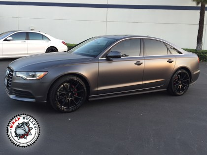 Audi A6 Wrapped in 3M Satin Dark Gray