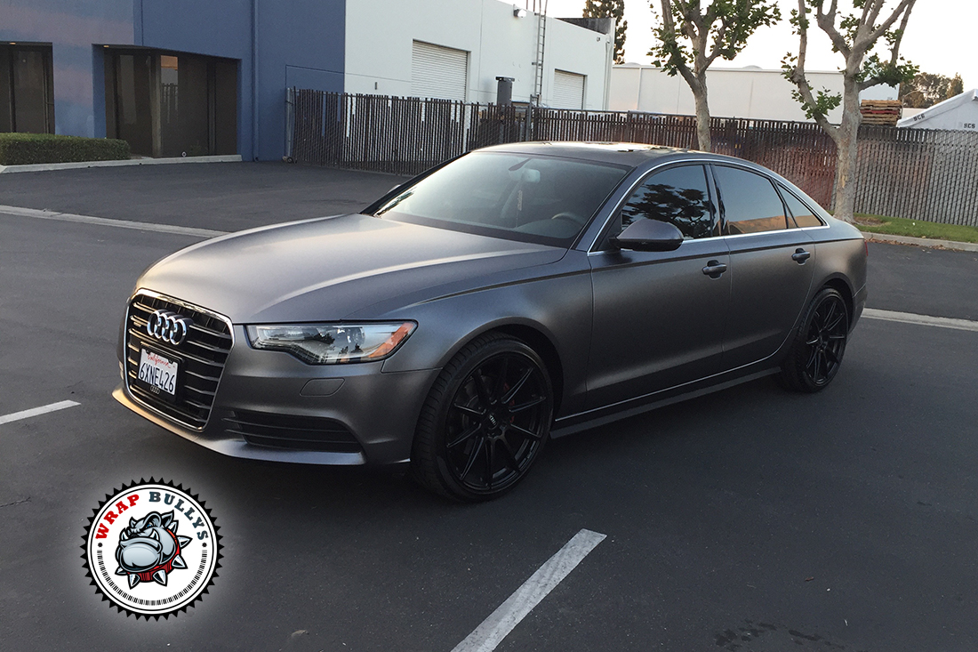 Audi A6 Wrapped in 3M Satin Dark Gray | Wrap Bullys Audi A Black Satin on audi a4, audi black edition, audi tt black, mazda mazda3 black, mercedes-benz cl550 black, audi b7 black, audi q5, audi s8 black, mercedes-benz e350 black, audi s6 black, audi s5 black, honda accord sedan black, volkswagen passat tdi black, audi a7 black, audi s7 black, range rover black, audi a8, audi a3, 2016 audi rs black, audi a5,