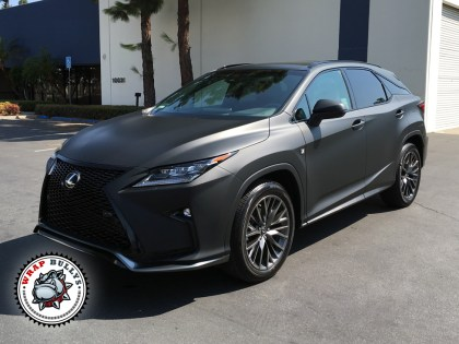 Lexus RX Wrapped in 3M Matte Black