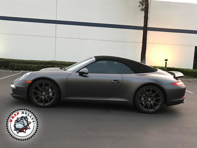 Porsche 911 Wrapped in 3M Satin Dark Gray