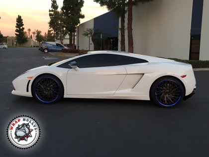 Lamborghini Gallardo Wrapped in 3M Gloss White Car Wrap