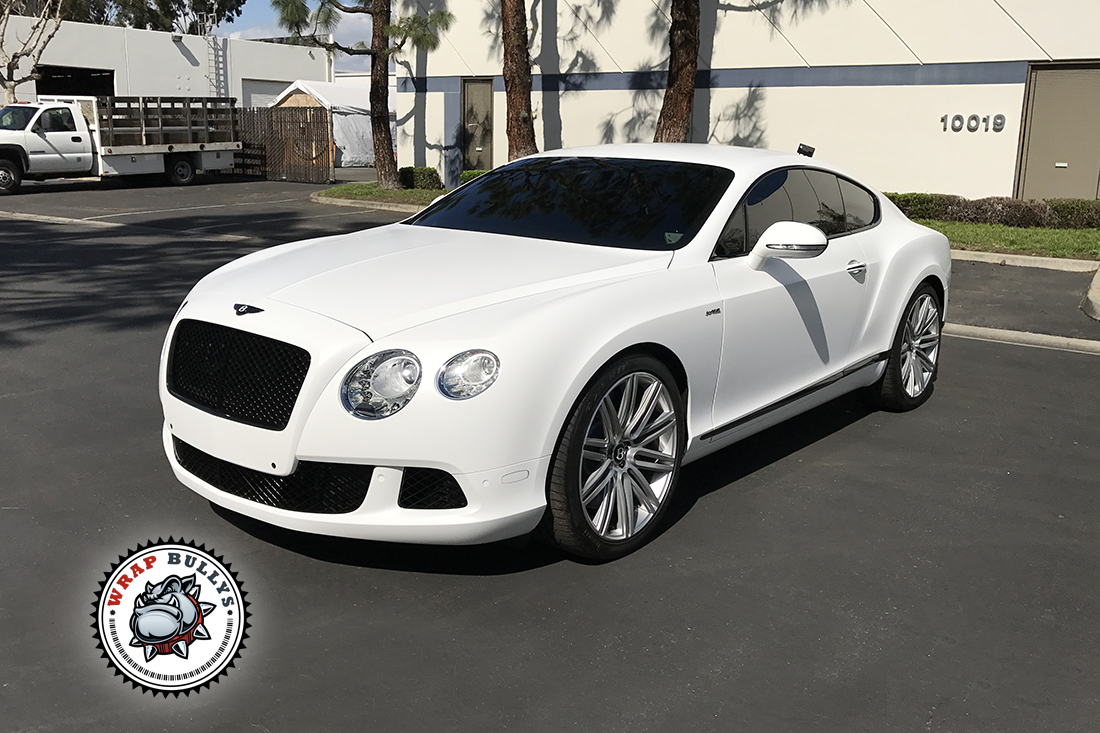 Bentley Wrapped In 3m Satin White Wrap Bullys