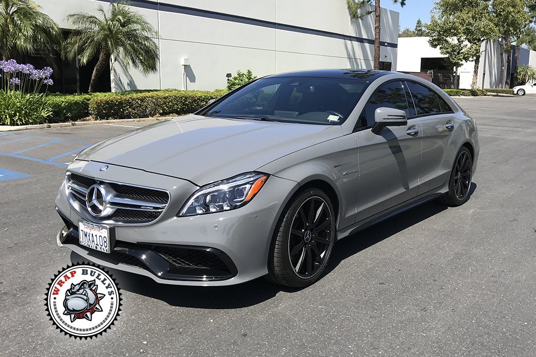 Mercedes Benz Wrapped In 3m Gloss Battleship Gray Wrap