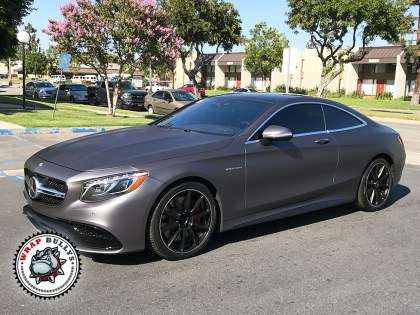 Mercedes Benz Wrapped in 3M Matte Dark Gray