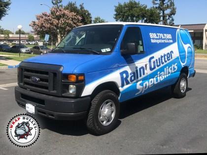 Rain Gutter Ford Cargo Van Wrap