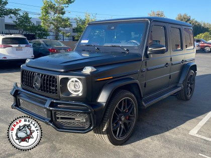 G Wagon Wrapped in 3M Satin Black