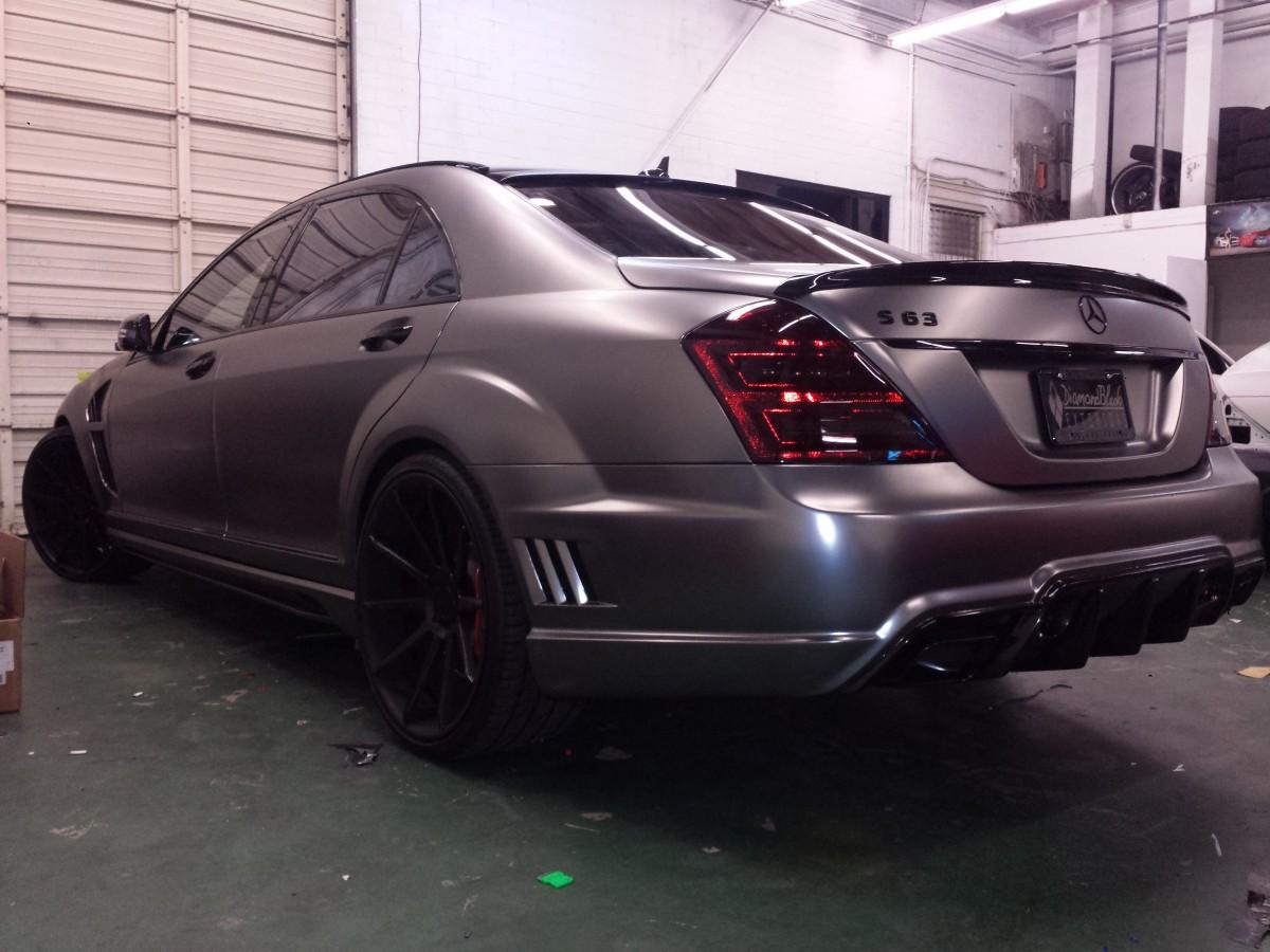 Frozen Black Chrome Wrap Mercedes Benz S63 Wrapfolio