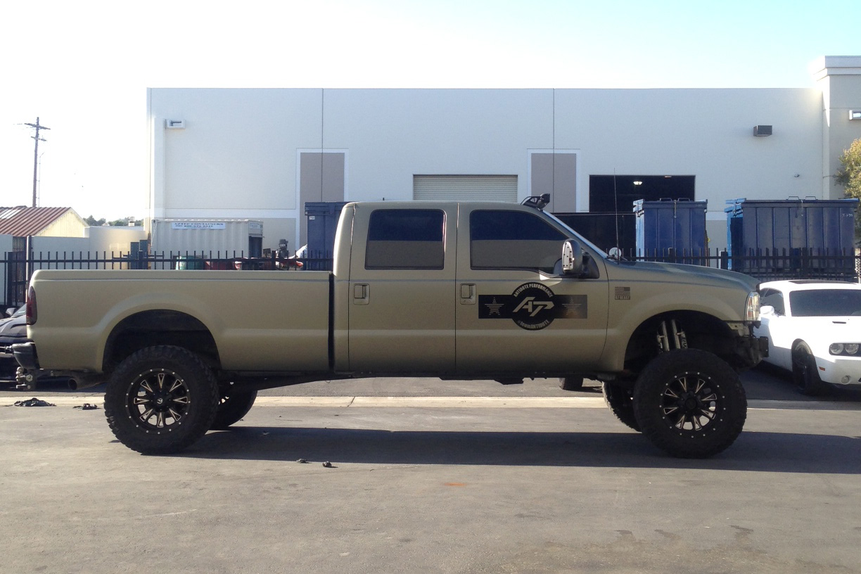 F250 Matte Black >> Ford F-250 Khaki Wrap by Antidote Performance | Wrapfolio