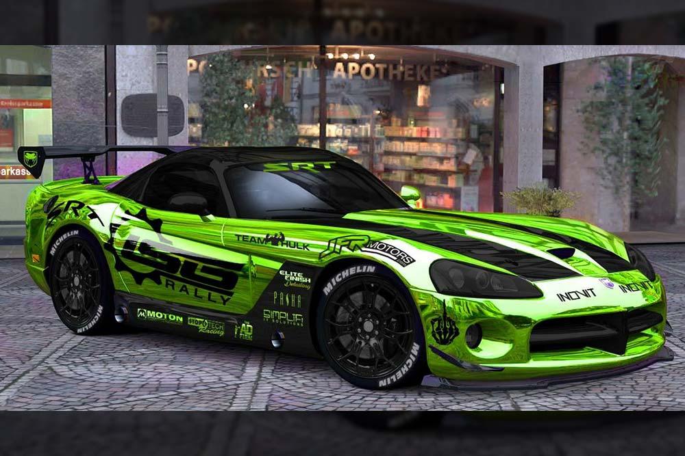 Green Chrome Wrap