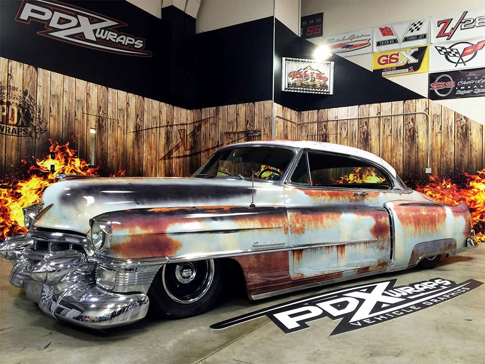 Am Flag Faded Eagle in addition Vehicle Wraps likewise Ironwolfmedia furthermore Real Fire Designs further Cadillac Coupe De Ville Patina Rust Wrap. on truck wraps graphic custom