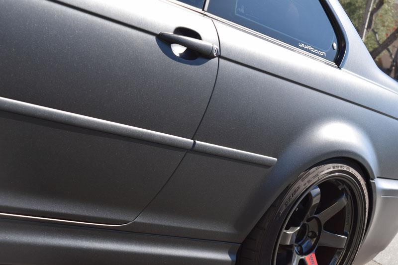 Satin Black Metallic E46 M3 Wrapfolio