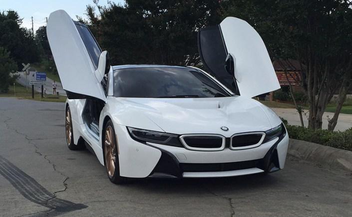 BMW i8 Gloss White Wrap