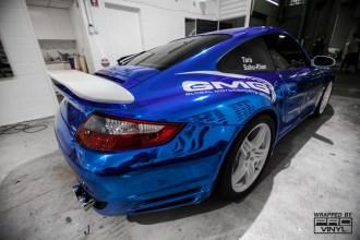 Blue Chrome Porsche