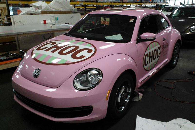 Choc VW Beetle Wrap