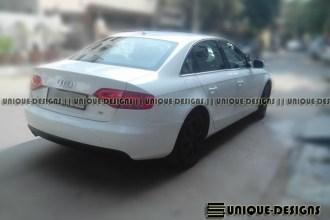 Gloss White Audi A4 Wrap