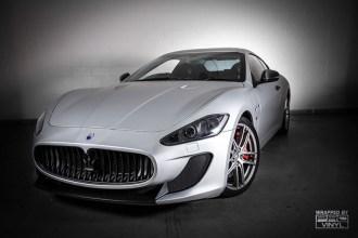 Maserati Gran Turismo wrapped in Arlon Matte Aluminum